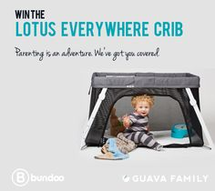 From world travel to everyday at-home adventures, the Lotus Everywhere Crib from @GuavaFamily is easy to set up and safe for your baby. Win one.