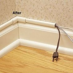 Great way to hide cords - Wiremold CMK50 CordMate II Computer and Home  Entertainment Cord Cover