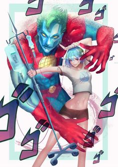 Earth-chan is a stand user << Captain Planet and Earth-chan and I think this is a JoJo reference? Jojo Bizarro, Stand User, Jojo Stands, Character Art, Character Design, Jojo Memes, Anime Crossover, Jojo Bizzare Adventure, Fanarts Anime
