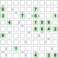 Number Logic Puzzles: 23744 - Futoshiki size 9