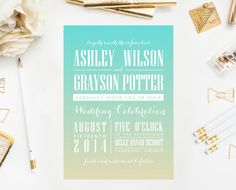 A B O U T ⋆ T H I S ⋆ L I S T I N G  Name: Ombre Wedding  Type: Customizable Invitation (wording and colors)  Size: 5 x 7      P R I N T A B L