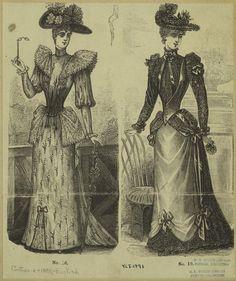 1890's English fashion