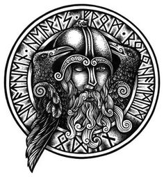 Norse God of Gods Odin, His wolves Geri and Freki and his ravens Huginn and Muninn. Blue cloak swirling in the storm, Hat pulled low over empty eye, Ravens at your shoulder, Wolves at your feet, Lo...