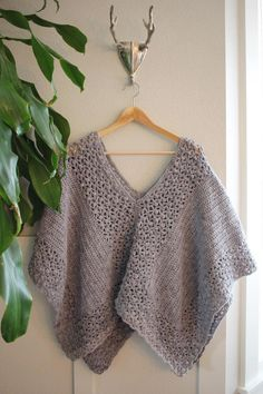 Crochet PATTERN Poncho Lacy Modern Lacy Poncho Crochet | Etsy