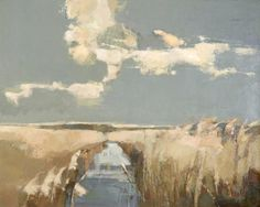 Dyke and Reeds, Burnham Overy by John Newland Abstract Landscape Painting, Seascape Paintings, Watercolor Landscape, Landscape Art, Landscape Paintings, Abstract Geometric Art, Painting Inspiration, Les Oeuvres, Illustrations