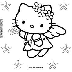 Hello Kitty 9 Princess Coloring PagesColoring