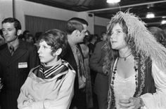 Janis Joplin attends her high school reunion at the Goodhue Hotel in Port Arthur, Texas. It was the tenth year reunion for the Thomas Jefferson High School class of 1960; captured by David Nance (1970)