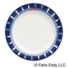 オリジナルプレート 〔サイズ〕直径約21.5㎝     〔素 材〕陶磁器   【ミスタードーナツ】『FISHS EDDY(フィッシュズエディ) オリジナルマグ』と『FISHS EDDY オリジナルプレート』を発売|ダスキンのプレスリリース