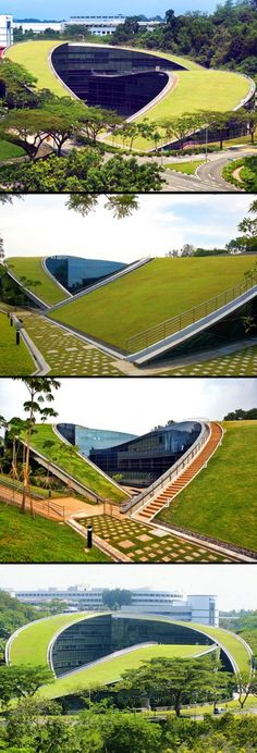 Fetching Modern Roofing Design Ideas 6 Good Tricks: Roofing Garden Diagram roofing ideas the fam Architecture Environnementale, Environmental Architecture, Architecture Durable, University Architecture, Futuristic Architecture, Sustainable Architecture, Contemporary Architecture, Architecture Organique, Religious Architecture