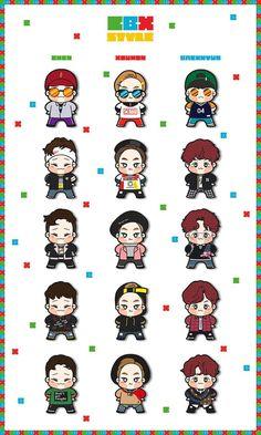 Exo Xiumin, Kaisoo, Chanbaek, Exo Stickers, Laptop Stickers, Danson Tang, Exo Anime, Exo Facts, Exo Fan Art