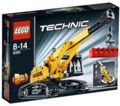 Black Friday 2014 LEGO Technic Tracked Crane 9391 from LEGO Cyber Monday. Black Friday specials on the season most-wanted Christmas gifts. Lego Building Sets, Building For Kids, Crayola Pens, Lego Technic Truck, Lego Track, Technique Lego, Crawler Crane, Lego Mindstorms, Lego Toys