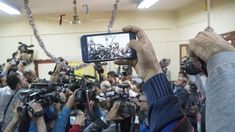 A #reporter filming on his #iPhone other reporters who were filming #presidential #candidate Moussa Moussa while casting his #vote ina polling station during #Egypt's #Presidentialelections2018 in #downtownCairo #EverydayCairo #News #Photography #Mideast #Africa #NorthAfrica #Politics