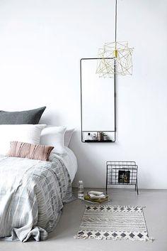 R DISEÑO SHOP alfombra estampada en blanco y negro de House Doctor. 160x230 cm