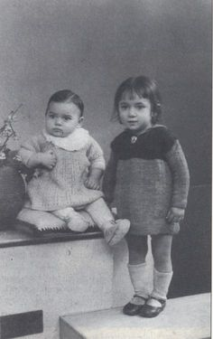 3 year old Jacqueline &  4 year old Huguette Benguigui - Jacqueline (b. 8/4/1940, Paris) and Huguette (b. 16/8/1938, Paris) were deported to Auschwitz with their parents and 5 siblings on June 23 1943. They were murdered on June 26 1943