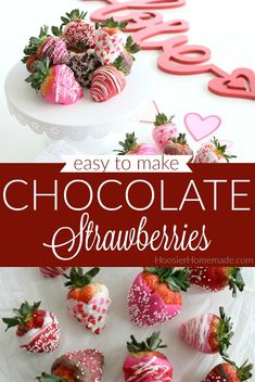 Chocolate Dipped Strawberries | This Chocolate Dipped Strawberries Recipe is super easy to make, yet impressive looking! #chocolatedippedstrawberries #chocolatestrawberries #nobaketreat #valentinesdaydessert