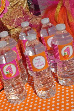 Pumpkin Party Water Bottle Labels 1st Pumpkin by sosweetpartyshop