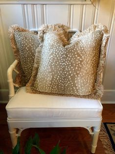 Excited to share this item from my shop: Chenille Antelope Pattern Designer Decorative Feather Down Throw Pillow with Brush Fringe Interior Decorating, Interior Design, Interior Ideas, Decorating Ideas, Leopard Bedroom, Dining Room Inspiration, Pillow Cover Design, Simple House, Bedroom Colors