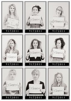 Last Day of Girls Camp - mug shots HAHAH! LOVE!