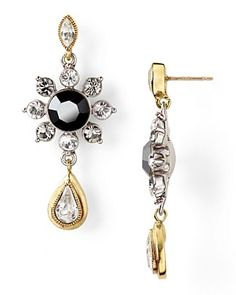 Carolee LUX Modern Meets Vintage Triple Drop Earrings... Just beautiful