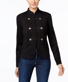 INC International Concepts Soutache Military Jacket, Only at Macy's | macys.com