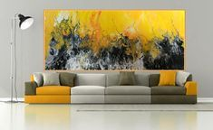 Abstract Painting modern acrylic living room giclee print