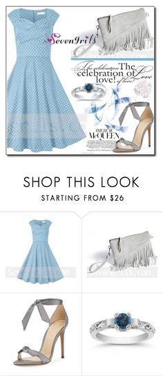 """SevenGrils 2"" by ruza66-c ❤ liked on Polyvore featuring Alexandre Birman and vintage"