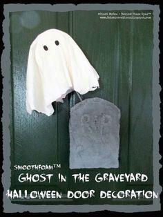 smoothfoam ghost graveyard halloween decoration