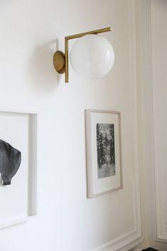 Spotlight on: Wall Lights - The Socialite Family Hallway Wall Lights, Hallway Walls, Modern Wall Lights, Bedroom Wall Lights, Indoor Wall Lights, Wall Lamps, Hallways, Hall Lighting, Living Room Lighting