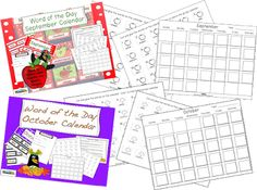 Check out our newly revised Word of the Day Calendars by SOL Train Learning: We have added a cut and paste student version. These words will increase vocabulary as well as writing skills.$