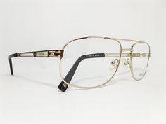 Óculos Grande Armação Metal Masculino Tamanho 59 Dourado