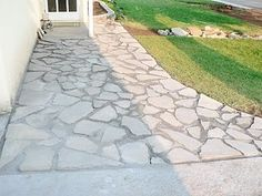 Recycled Concrete walk ways..... - Hippie Geek Farm Art