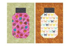 Try my easy beginner friendly Bug Jar quilt block pattern to make tall bug jars that finish at x Not into bugs? Fill the jars with novelty fabrics. Quilt Blocks Easy, Quilt Block Patterns, Pattern Blocks, Block Quilt, Patch Quilt, Quilting Tutorials, Quilting Projects, Quilting Ideas, Sewing Tutorials