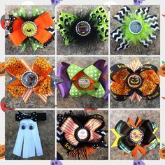 Image result for spooky halloween hair bows Newborn Halloween, Halloween Hair Bows, Spooky Halloween, Halloween Stuff, Kids Hair Clips, Newborn Hats, Arts And Crafts, Diy Crafts, Diy Hair Bows