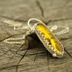 WING FOUND  Baltic amber inclusion necklace  sterling by Ankanate