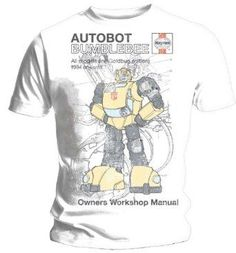 Haynes Manual Transformers Bumblebee T Shirt (S) Official Licensed Merchandise - Haynes Transformers T Shirt Autobot Bumblebee short sleeved Unisex (Barcode EAN=1100760000001) http://www.MightGet.com/march-2017-1/haynes-manual-transformers-bumblebee-t-shirt-s-.asp