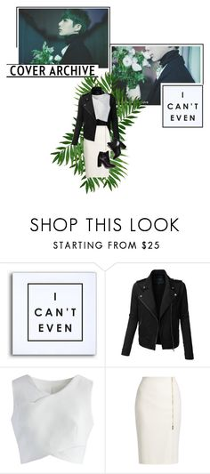 """""""MONSTA X - Hyungwon"""" by kairimikio ❤ liked on Polyvore featuring WALL, LE3NO, Chicwish, MaxMara, Pierre Hardy and kitchen"""