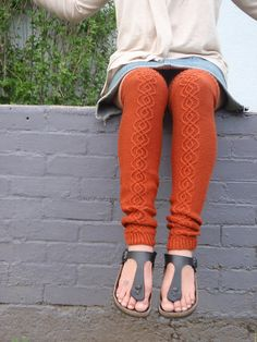 Ravelry: Project Gallery for Traveling Stitch Legwarmers pattern by Lisa R. Myers