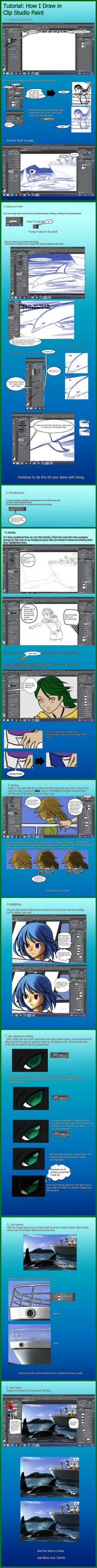 Clip Studio Paint Tutorial by Vanzkie.deviantart.com on @DeviantArt