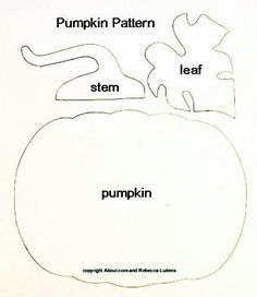 Free Large Paper Piecing Patterns and Layouts for Scrapbooking : Free Pumpkin Paper Piecing Pattern for Halloween and Thanksgiving Scrapbooking Moldes Halloween, Manualidades Halloween, Halloween Crafts, Halloween Ornaments, Applique Templates, Applique Patterns, Bunny Templates, Applique Tutorial, Card Templates