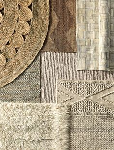 "Layered Rugs | ""Natural fiber rugs to complete a room. By serenaandlily"""