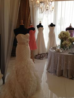 a stunning showcase of @kathyireland @MonCheriBridal  wedding gowns & special occasion dresses