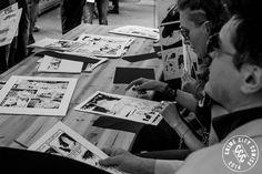 La giuria composta dai principali autori di Dylan Dog valuta le opere del concorso di fumetti There Will Be Ink - 24h Comics Contet