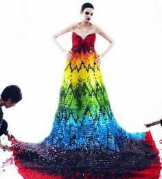 Gummy Bear Dress- kind of awesome but I worry what happen when the Gummy Bears get hot and start getting sticky... Then it's just awkward