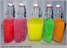 Como Fazer Vodka Colorida e Aromatizada ~ PANELATERAPIA - Blog de Culinária, Gastronomia e Receitas