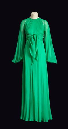 Yves Saint Laurent. Scandal Collection.1971. Green dress.