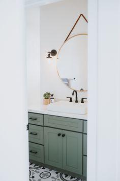 Upstairs Bathrooms, Downstairs Bathroom, Bathroom Kids, Bathroom Renos, Laundry In Bathroom, Green Bathrooms, Green Bathroom Decor, Bathroom Small, Master Bathroom