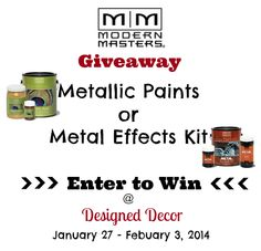 Shine Big~ Shine Small~ with Modern Masters Metallic Paint and a Giveaway! | - Designed Decor