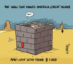 ... and cost less than $1.000 #makeamericagreatagain #mexicanwall #nationalemergency #trump #caricature Caricature, Donald Trump, Button, Hot, Wall, How To Make, Instagram, Caricatures, Buttons