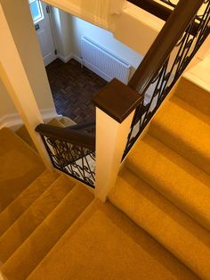 Greendale Carpets Broadway Twist laid to a staircase by Trevor & Darrell 👍 Flooring Shops, Types Of Flooring, Carpet Styles, New Carpet, Carpets, Beautiful Homes, Broadway, Stairs, Stair Carpet