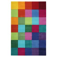 "Smart square multi-coloured rugs  from the rug seller uk 110x170cm (5'6""x3'6"") : £199.00 + free p&p"